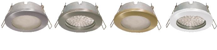 Защищенные встраиваемые светильники GX53 IP65